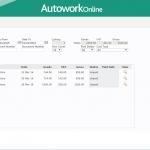 MAM Software Autowork Online Garage management software ledgers account enquiry