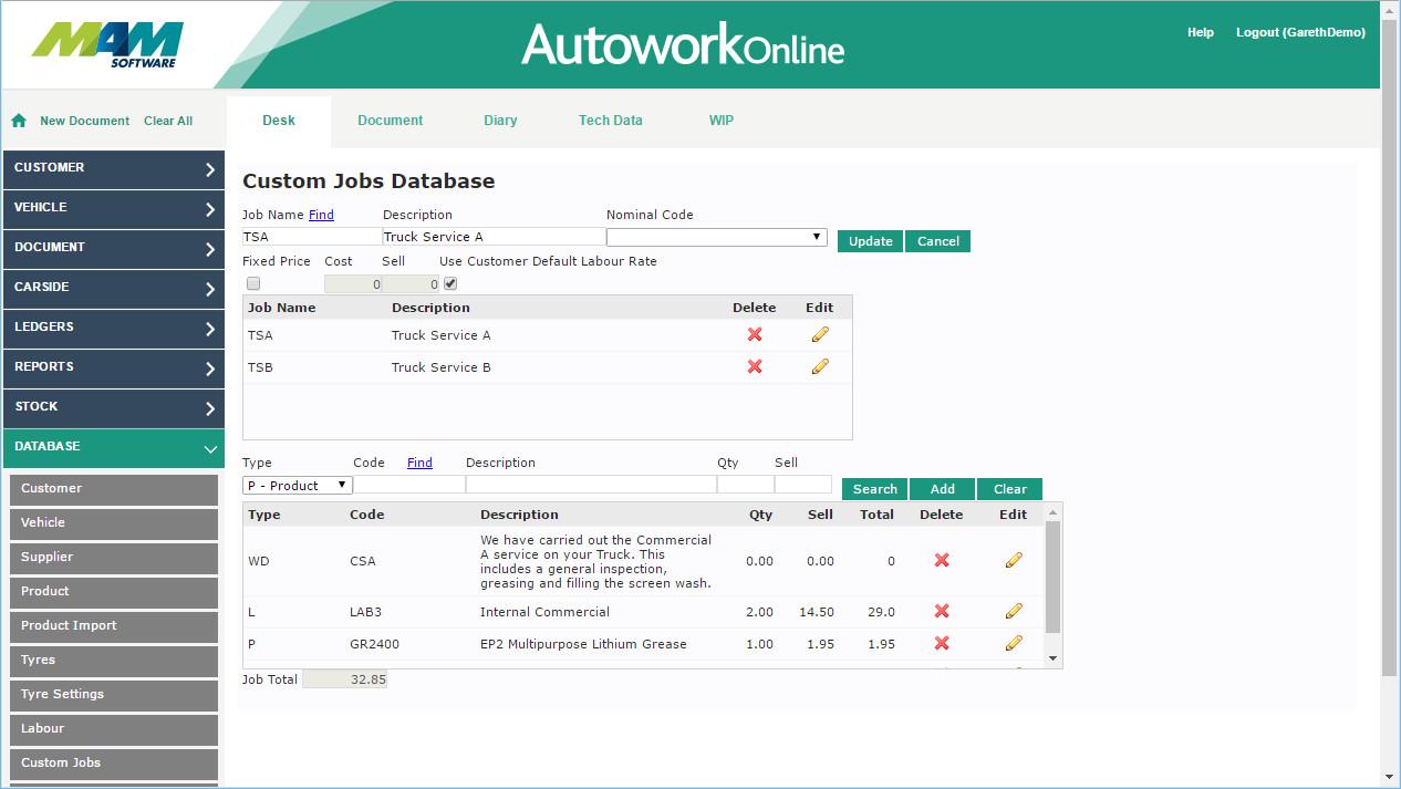 Automotive workshop management software - Autowork Online Intended For Mechanics Job Card Template