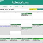 MAM Software Autowork Online Garage management software workshop diary
