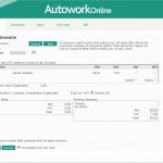 MAM Software Autowork Online Garage management software insurance invoice split