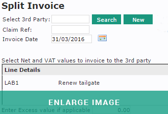 MAM Software Autowork Online invoice insurance split