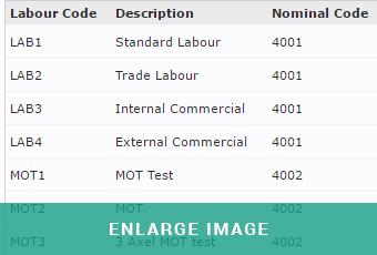 mam software autowork online labour charges