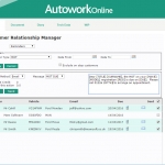 MAM Software Autowork Online Garage management software customer MOT service reminders