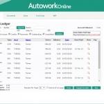 MAM Software Autowork Online Garage management software sales ledger