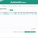 MAM Software Autowork Online Garage management software suggested ordering