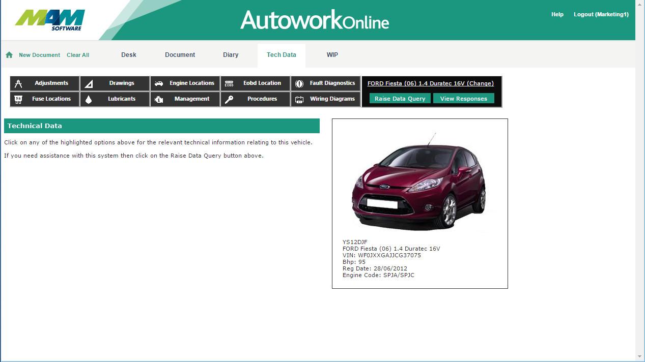 Automotive Technical Data Autowork Online