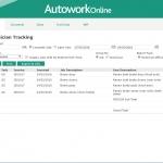 MAM Software Autowork Online Garage management software technicians efficiency report