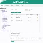 MAM Software Autowork Online Garage management software technician database