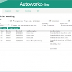 MAM Software Autowork Online Garage management software technicians efficiency and costs timesheet reporting