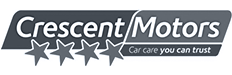 Crescent motors garage logo