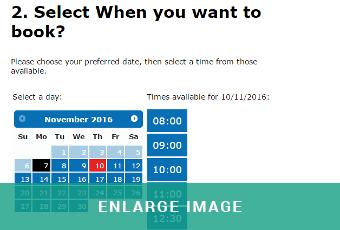 MAM Software Online MOT booking module