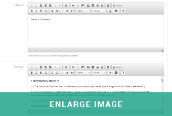 GarageWeb's easy to use editor allows the creation of static pages
