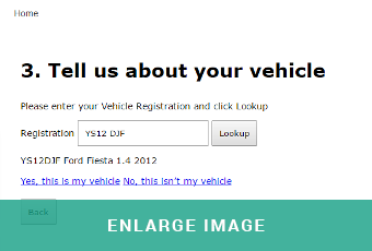 The VRM lookup feature allows customers to easily find their vehicle